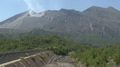 Sakurajima Volcano Releasing Toxic Gases Stock Footage
