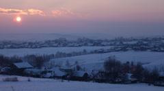 Sunset Time Lapse, Winter Scene, Beautiful Landscape, White Hills - stock footage