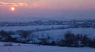 Sunset Time Lapse, Winter Scene, Beautiful Landscape, White Hills Stock Footage