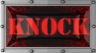 Knock on led Stock Footage