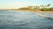 Stock Video Footage of Water waves breaking in the beach