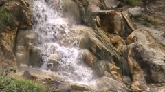 Thermal waterfall Stock Footage