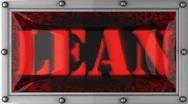 Lean on led Stock Footage