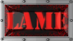 Lame on led Stock Footage