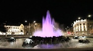 Stock Video Footage of Schwarzenbergplatz in Vienna in the night