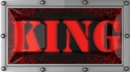 King on led Stock Footage