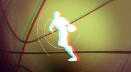 Anaglyph basketball background loop Stock Footage