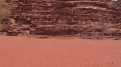 Sand and sandstone layers Stock Footage