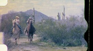 DUDE RANCH VACATION Riding Horses Desert 1965 Vintage Film Home Movie 676 Stock Footage