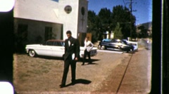 People Going to Christian Church Service 1960s Vintage Film 8mm Home Movie 677 Stock Footage