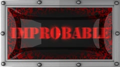 Improbable on led Stock Footage