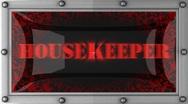 Housekeeper on led Stock Footage