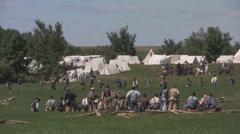 Arkistokuvanauhanpätkä - Civil War - Nizza leveä taistelu kohtaus Arkistovideo