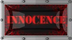 innocence on led - stock footage