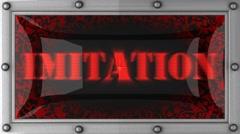 Stock Video Footage of imitation on led