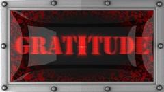 gratitude on led - stock footage