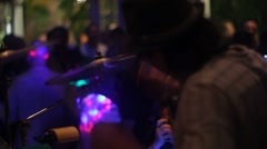 Drummer at a Party - stock footage