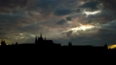 Prague the Castle 1 Stock Footage