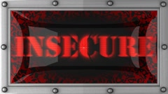 Insecure on led Stock Footage