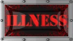 illness on led - stock footage