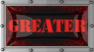 Greater on led Stock Footage