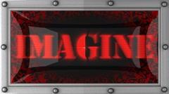Imagine on led Stock Footage