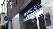 Stock Video Footage of bank barclays