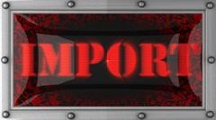 Import on led Stock Footage