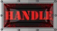 Handle on led Stock Footage