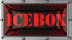 Icebox on led Stock Footage