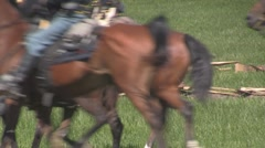 Stock Footage - Union Cavalry pass - Med Close Stock Footage