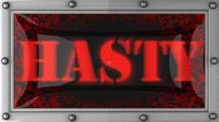 hasty on led - stock footage