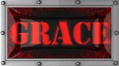 grace on led - stock footage
