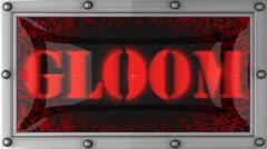 gloom on led - stock footage