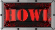 Howl on led Stock Footage