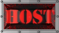 Stock Video Footage of host on led