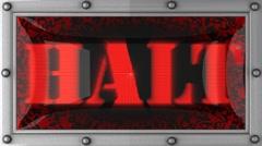 Halt on led Stock Footage
