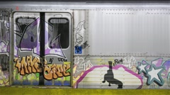 Graffiti on Subway Car animation Stock Footage