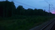 Night view from train window Stock Footage