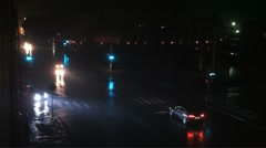 City traffic aerial view Stock Footage