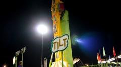 Fair/Carnival ride Stock Footage