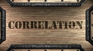 Correlation on wooden stamp Stock Footage