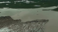 Stock Video Footage of Aerial Over Glacier And Lakes