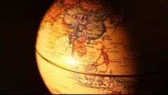 Old globe - stock footage