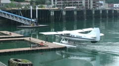 Floatplane docking Stock Footage