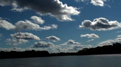 Clouds and lake in time lapse Stock Footage