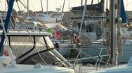 Stock Video Footage of Moored yacht at port