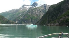Tracy Arm, Sawyer glaciers aa Stock Footage