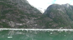 Tracy Arm, Sawyer glaciers ff Stock Footage