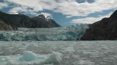 Tracy Arm, Sawyer glaciers gg Stock Footage